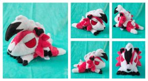 Midnight Lycanroc Beanie by areica
