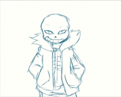 Practice animation with Sans by sonicfangirl666