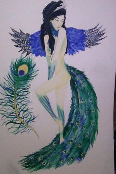 Peacock Lady by DemonicDes