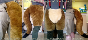 [C] Doosker Roo's Were-Kangaroo Shorts and Tail by ErrorFactor