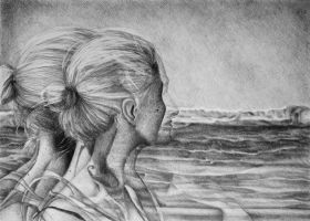 Lost In The Wind, 2016, 50-70 cm, graphite crayon  by oanaunciuleanu