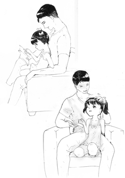 Reading together sketches by Nolimbest