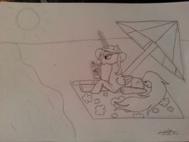 Sketch6: MLP Princess Aiclo in Summer by Aiclo