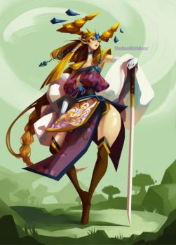 Inspired Character Design: Zelda by TheOneWithBear