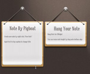 Hang note by pigboat