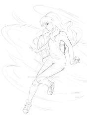 Air/Earth Fight - Aiko sketch 1 by lane880