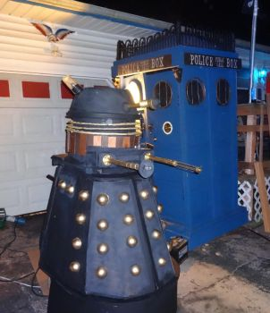 our groups TARDIS and Dalek by DanielLeeHawk