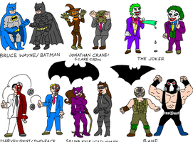 Batman now and once by Austria-Man