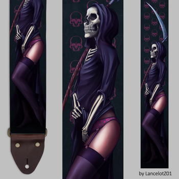 design for guitar strap by LancelotZ02