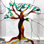 Tree of Life Stained Glass Window by LilipilySpirit