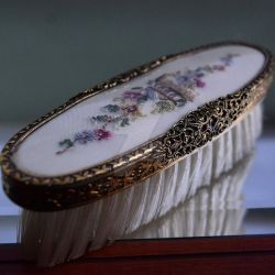 Vintage Regent Of London Brass Embroidered Brush by SpearmintGallery