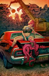 Tentacle Rape by Wes Huffor by artmunki