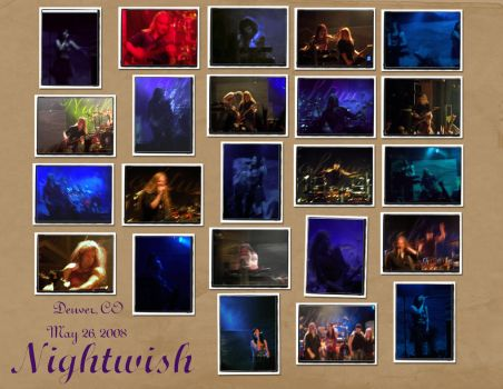 Nightwish Denver Collage 1 by DruidElf
