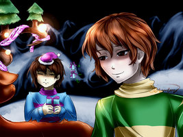 You're doing a great job, Frisk by TemeroHimitaki