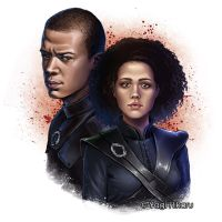 Grey Worm and Missandei by yagihikaru