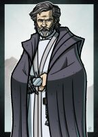 9 of 9 - SPOILERS - Luke Skywalker by JoeHoganArt