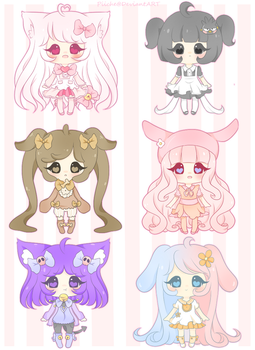 Adoptables- Sanrio Inspired [Open] by Powder-Puff