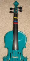 Child's Teal Violin by FantasyStock