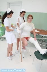 Betty's Shoulder Spica and Long Leg Walking Cast 2 by MedicBrace