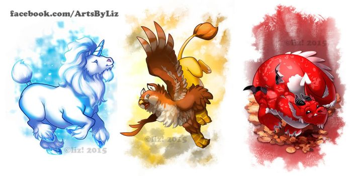 Fat Fantasy Creatures by syrusbLiz