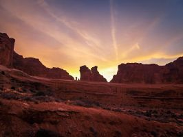 Arches: Sunset by j-ouroboros
