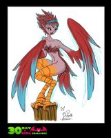 30 DAY MONSTER GIRL CHALLENGE - 1 Harpy by Minueth