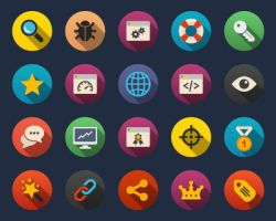 Seo and Web Flat Icons by Alexgorilla