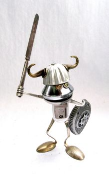 Forg - Medieval Bot Sculpture by adoptabot