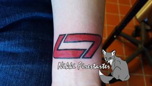 Levi LaVallee Racing Team Logo Tattoo by NikkiFirestarter