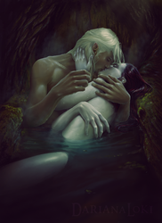 Dhampir_Love in forest by DarianaLoki