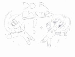 DDR CHAMPS YAY by SonicHearts