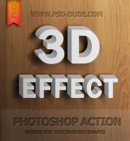 3D Text Photoshop Action by PsdDude