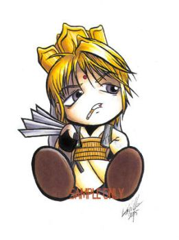 Chibi Sanzo sticker design by Bee-chan