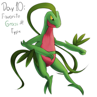 POKEDDEXY challenge - Day 10: Grovyle by Zaprong
