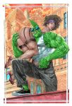 Savage Dragon_ painting by AllJeff