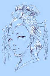 Designing Contest - 1st Place moonlight - Headshot by rika-dono