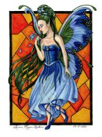 Stained Glass Fairy by claidis