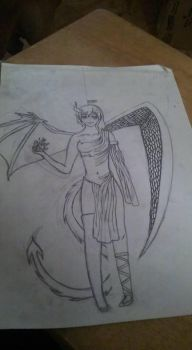 Demon/Angel Outline by BitchesBeBitches1993