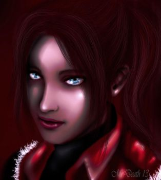 Claire Redfield's portrait by MrDeath13