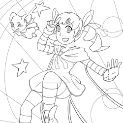 Shiny Witch Mirielle (Colouring Page)