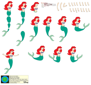 Character Builder-Ariel The Little Mermaid by Kphoria