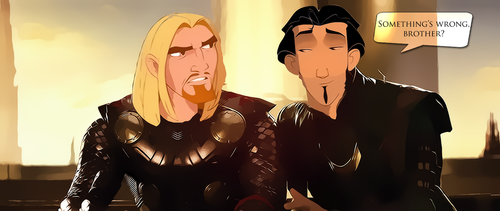 Miguel and Tulio as Thor and Loki by DreamerTheTimeLady