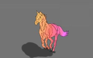 Coloured Horse by JamyHamy