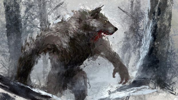 Werewolf by conorburkeart