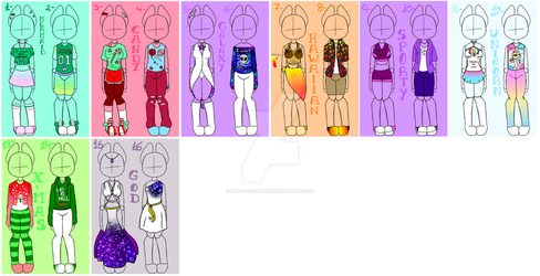 Outfits adopts :10/16 OPEN: by Natalie-Sophie