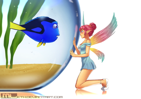 Erylia finds Dory by MLeth