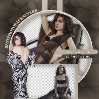 Png Pack 2822 - Lily Collins by xbestphotopackseverr