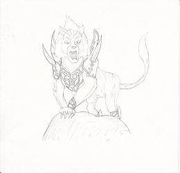 Dewloren Tiger King of the Ice Barrier by Louisetheanimator