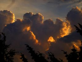 Fight between sun and clouds by eReSaW