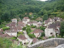 Old village 4 roofs by Cat-in-the-Stock